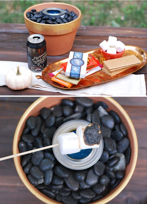 Twin Stripe Backyard S'mores