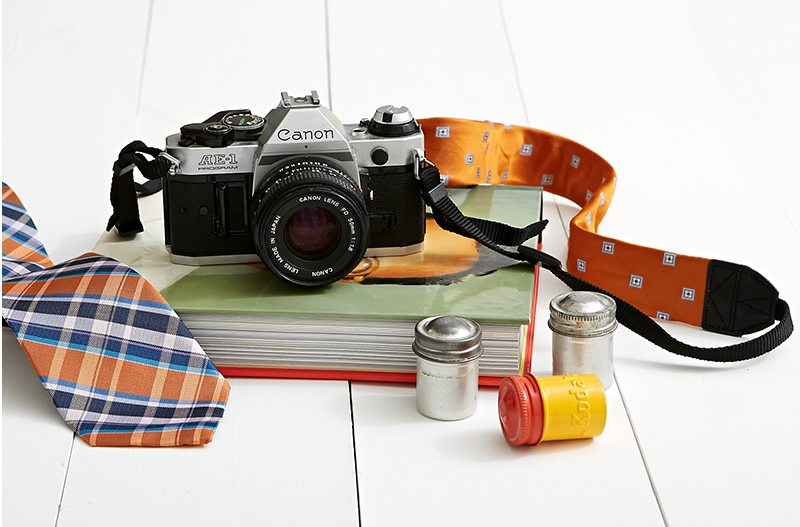 Father's Day Necktie DIY Upcycle Camera Strap