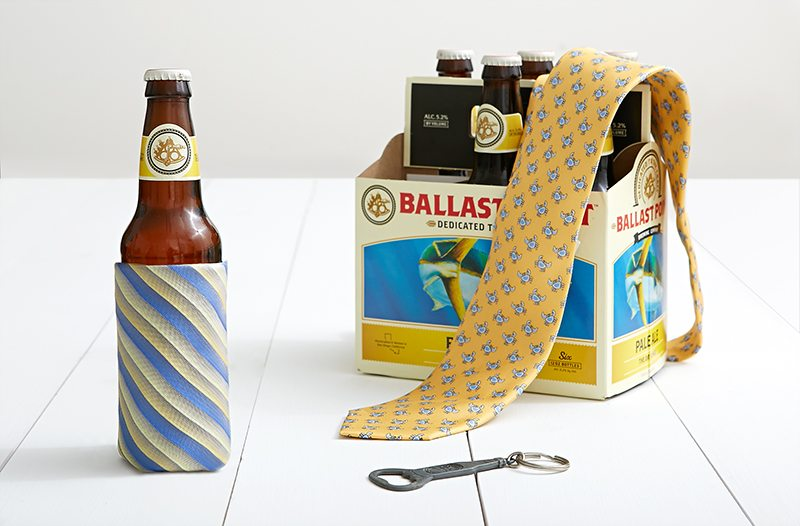 Father's Day Necktie DIY: Beer Holder Koozie