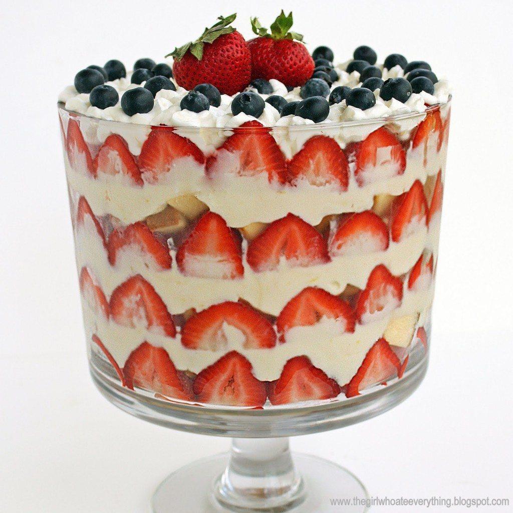 Patriotic Trifle Dessert