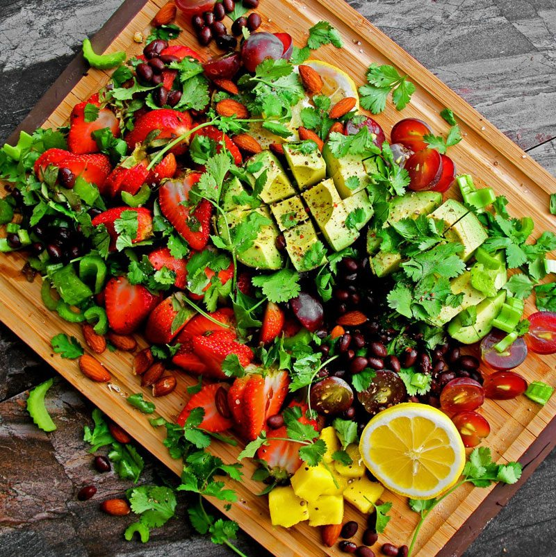 Avocado Fruit Salad from A Bachelor and His Grill