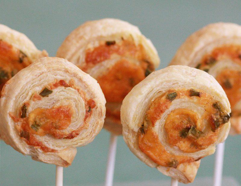 Treats on a Stick | Cheddar Pinwheels