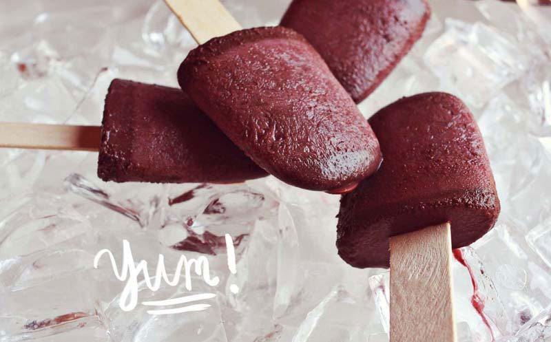 Red Wine Fudge Pops