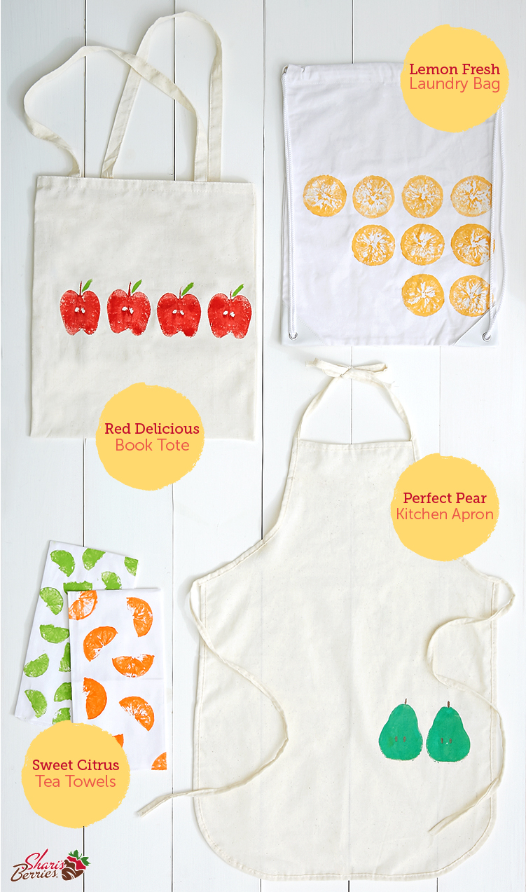 Gifting DIY:  Fruit Stamping