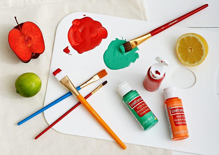 Fruit Stamp DIY   Supplies