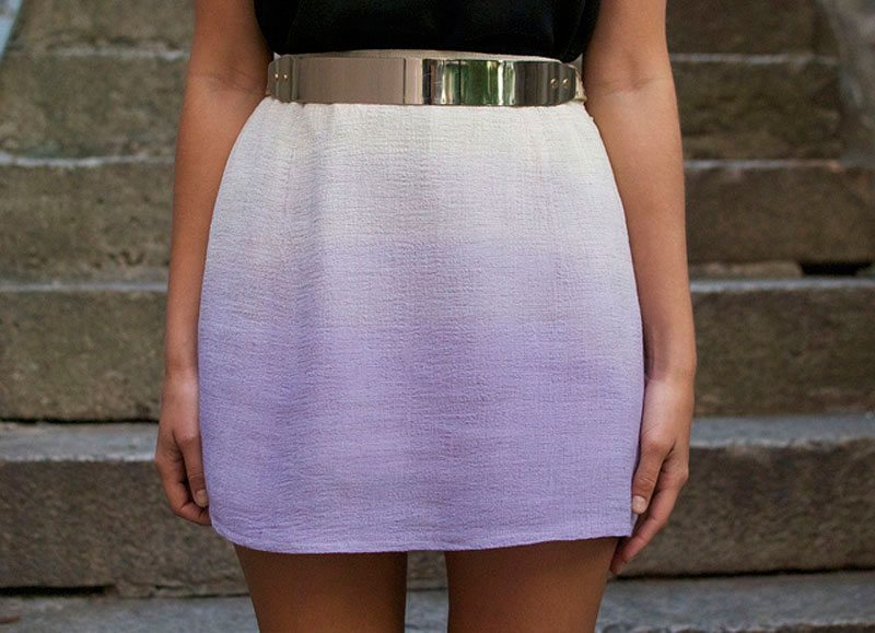 dip dye mini skirt