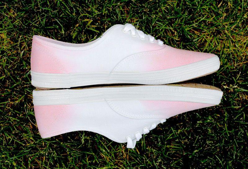 dip dyed sneakers