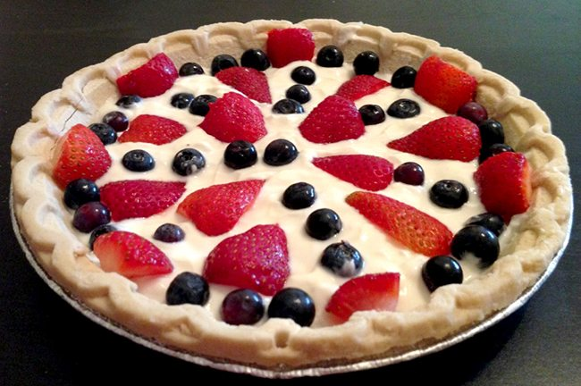 Patriotic Fruit Pie
