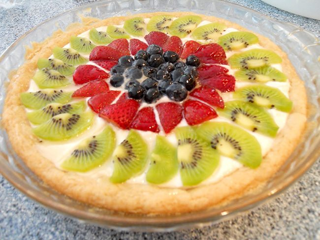 Fruit Cookie Pie