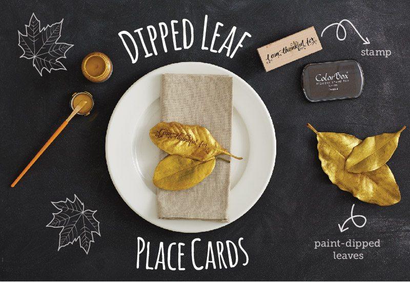 DIY: Dipped Leaves