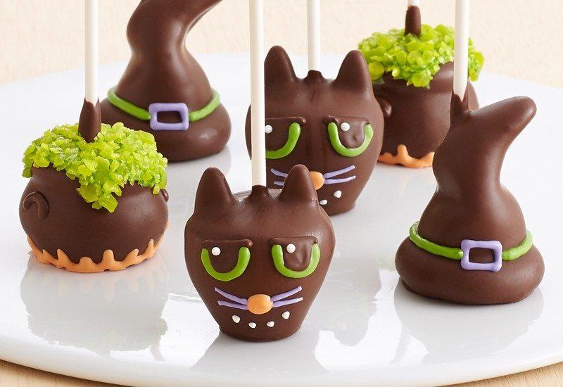 Handmade Halloween Brownie Pops