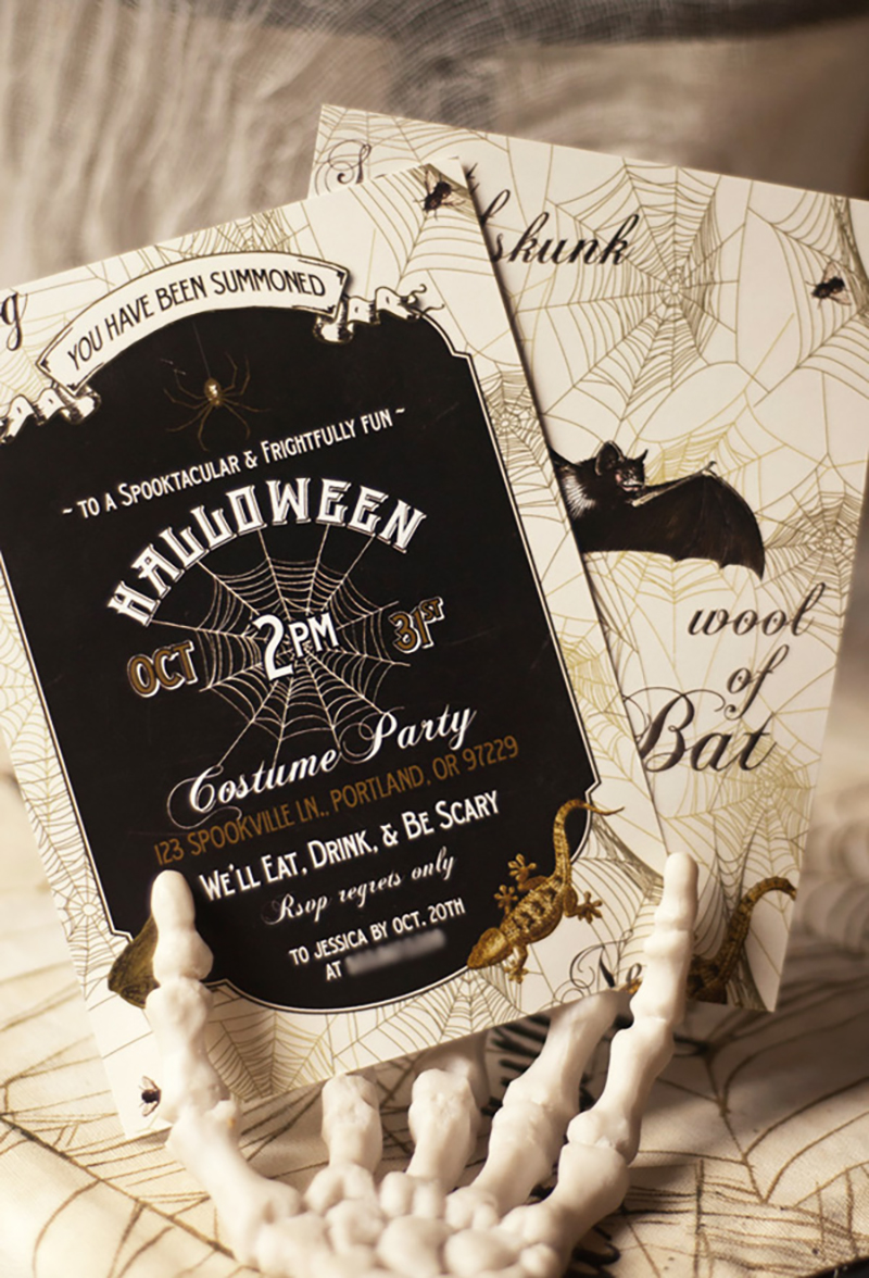 A Witchy Halloween Party Sharis Berries Blog – Scary Party Invitations