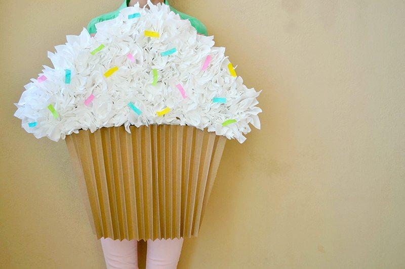 Paper Cupcake Costume
