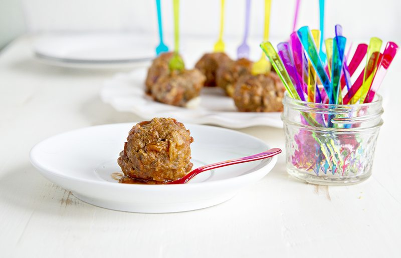 Bacon Cheeseburger Party Meatballs