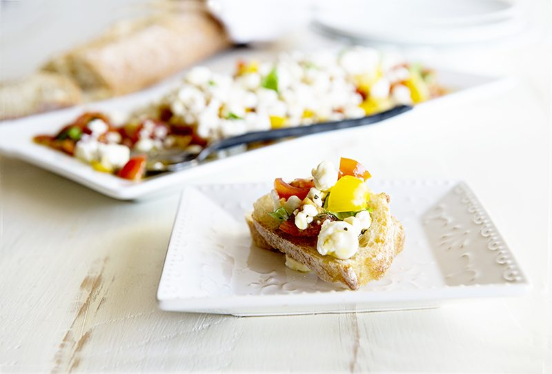 New Year's Eve Appetizer: Tomatoes & Goat Cheese