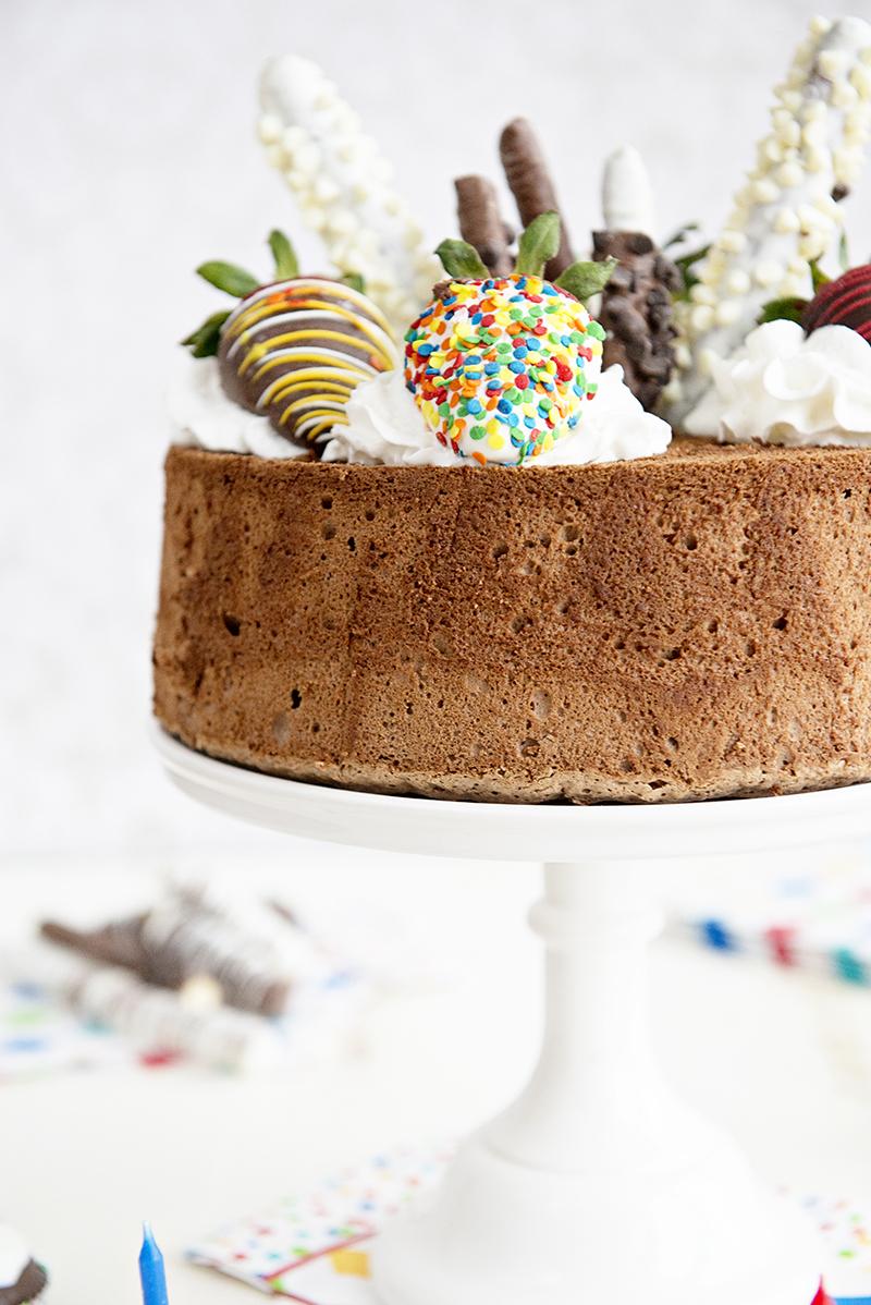 Birthday Party Idea: Chocolate Angel Food Cake Recipe - Shari's ...