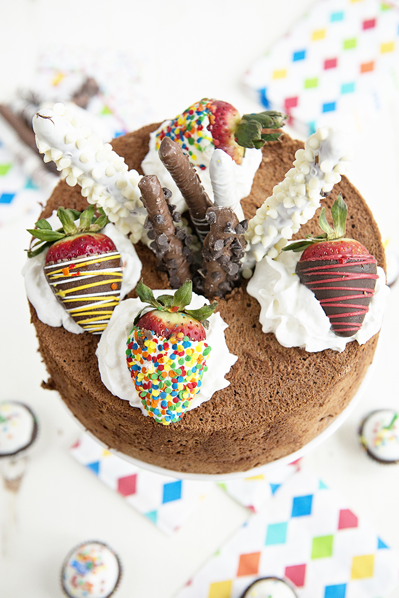 Birthday Party Idea: Chocolate Angel Food Cake Recipe ...