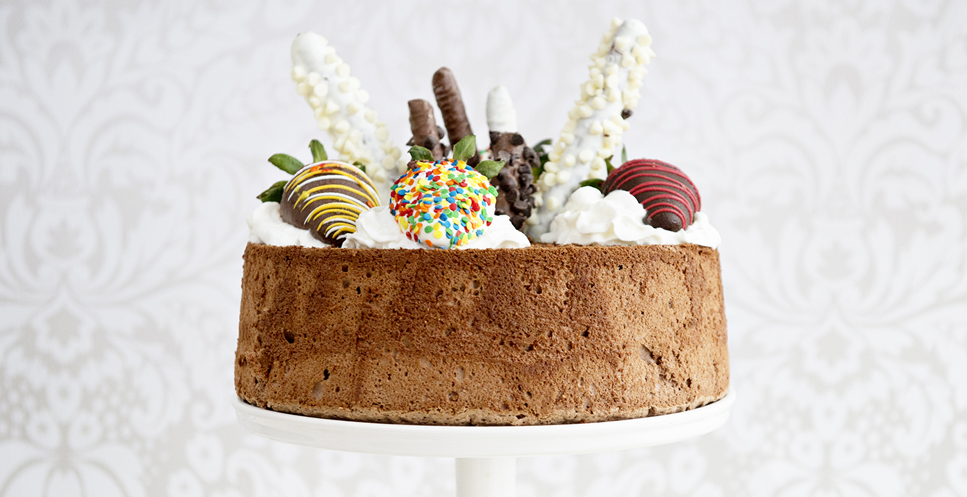 Birthday Party Idea: Chocolate Angel Food Cake Recipe - Shari's ...