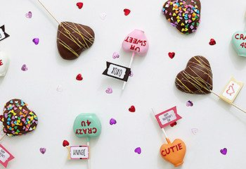 Valentine's Day marshmallow pop treats