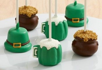 St. Patrick's Day Brownie Pops