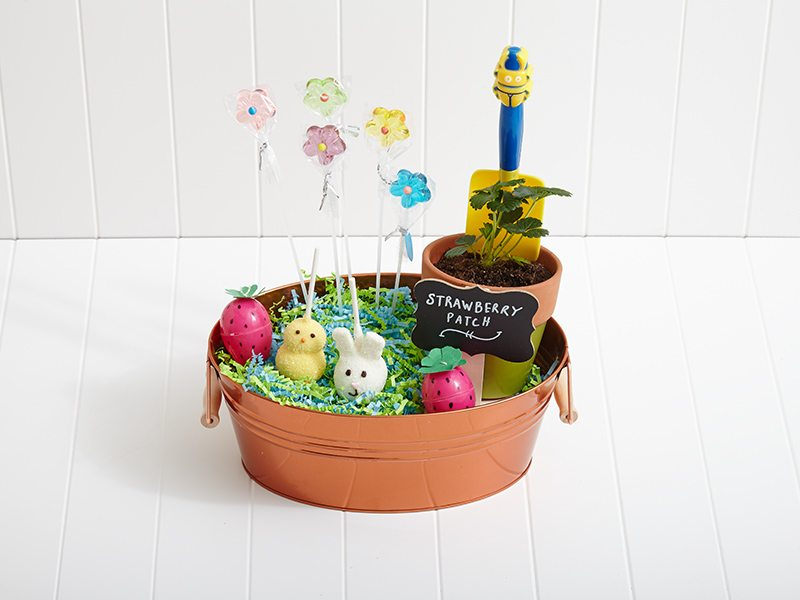 DIY: Strawberry Garden Easter Basket