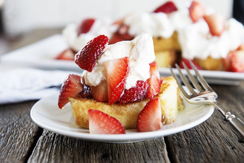 Toasted Pound Cake with Balsamic Strawberries