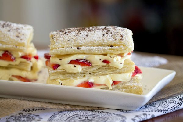 Strawberry Cheesecake Napoleons | This Gal Cooks