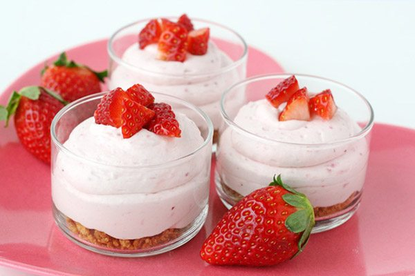Strawberry Cheesecake Mousse | Glorious Treats