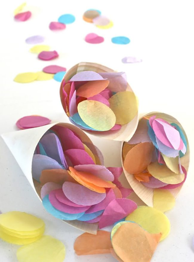 Tissue Paper Confetti   Polkadot Prints