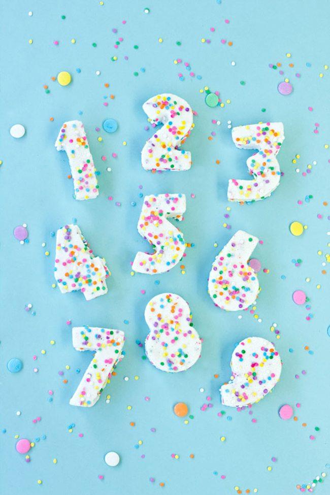 Confetti Marshmallow Numbers   Studio DIY
