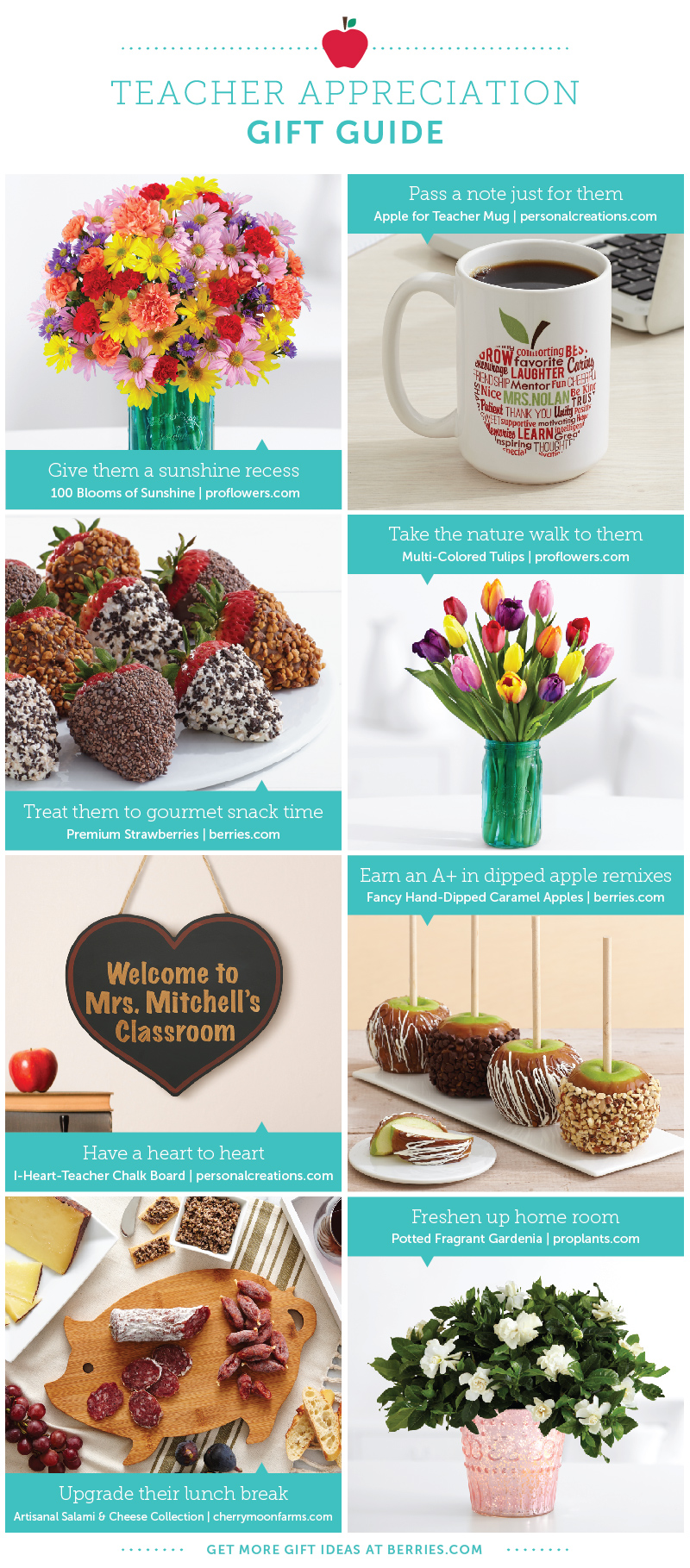 8 Great Gifts for Teachers - Shari's Berries Blog