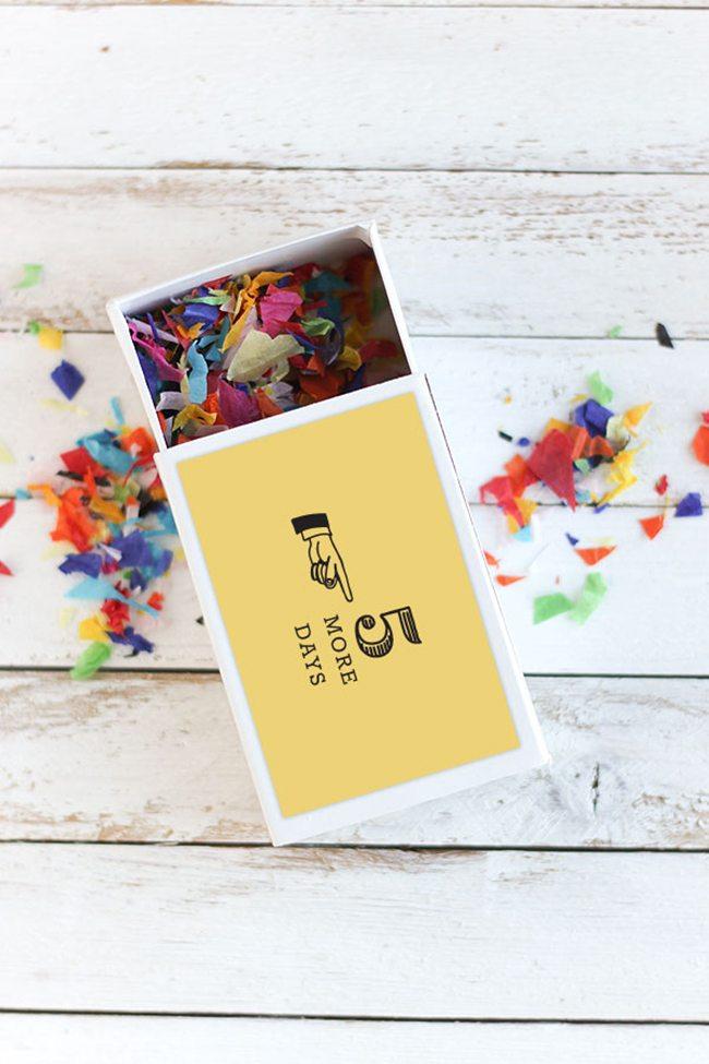 Week Long Birthday Counydown | Confetti Sunshine