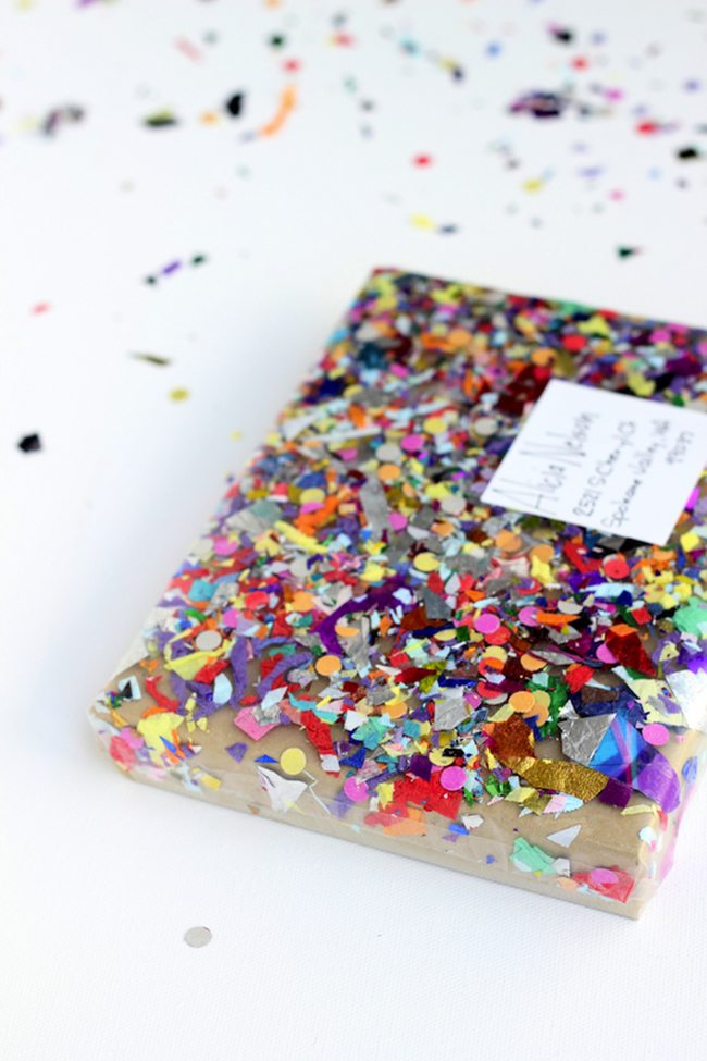 Confetti Decorated Package   You are my fave