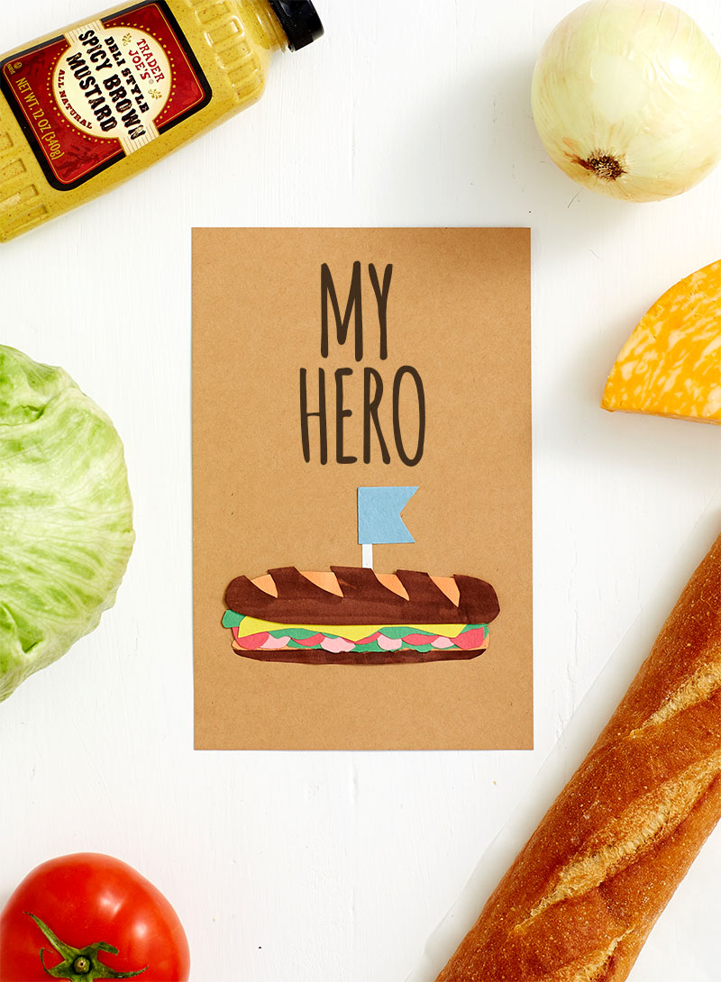 Cute Homemade Father's Day Cards For Dad - My Hero