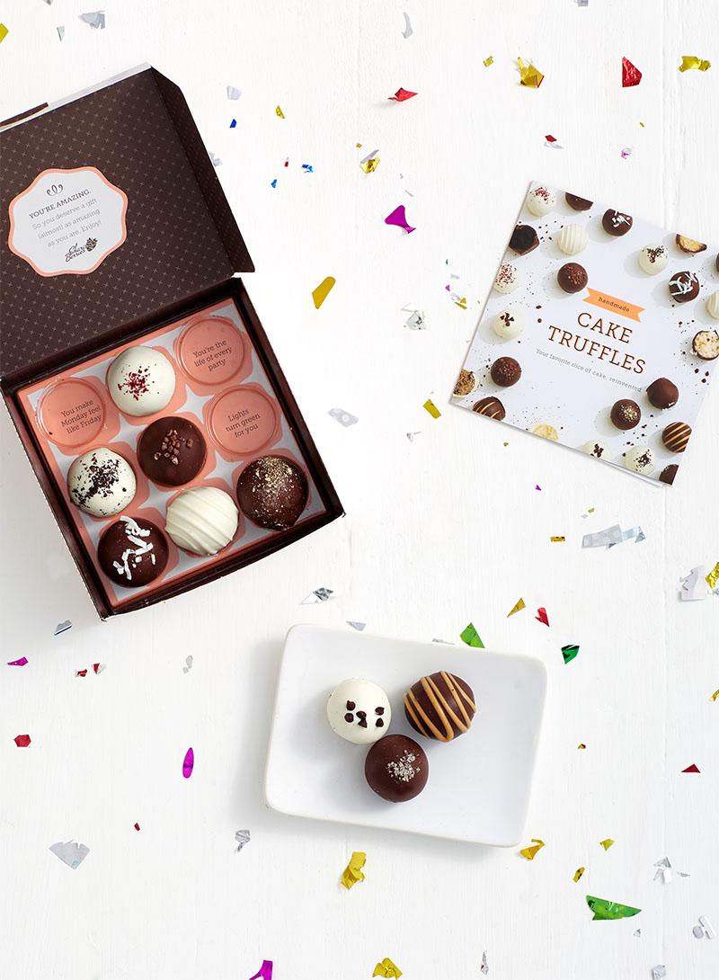 Share some Shari's Berries cake truffles with your bestie