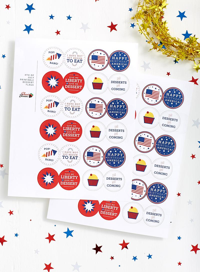 DIY: 4th of July Free Food Flag Printables