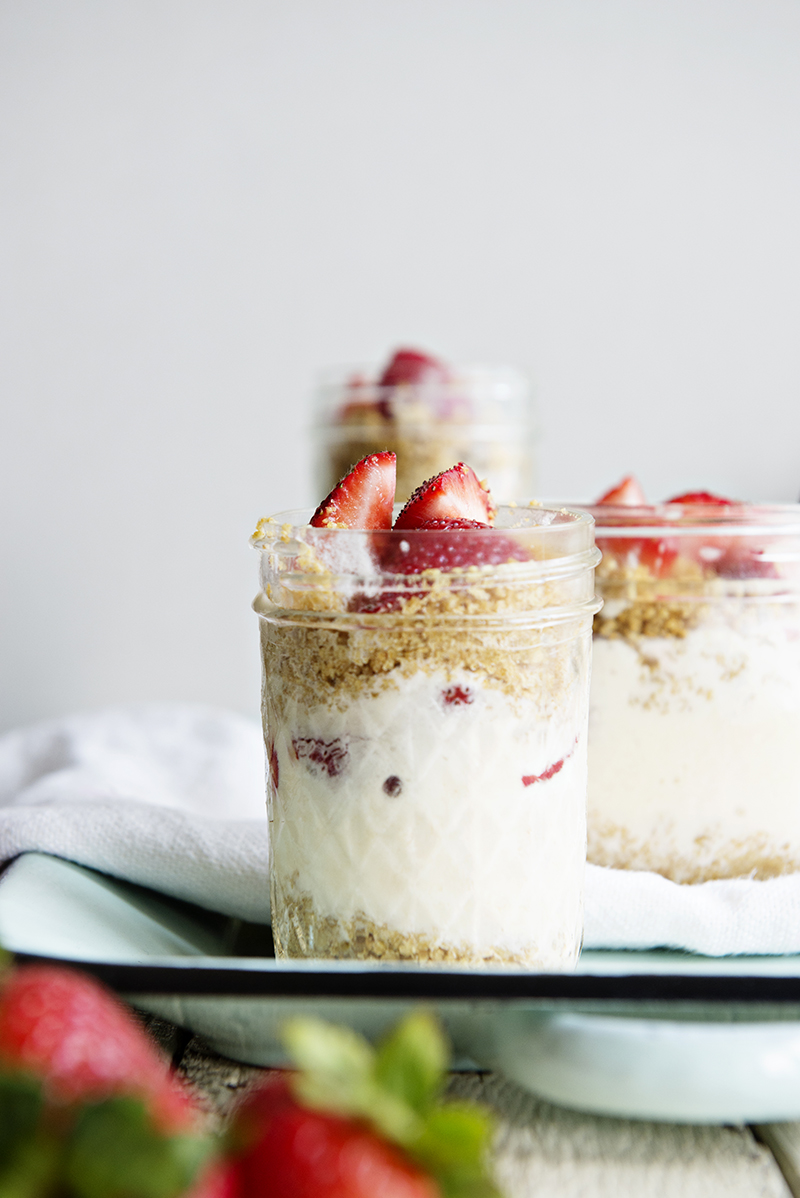 Strawberry Lemonade Ice Cream Parfaits
