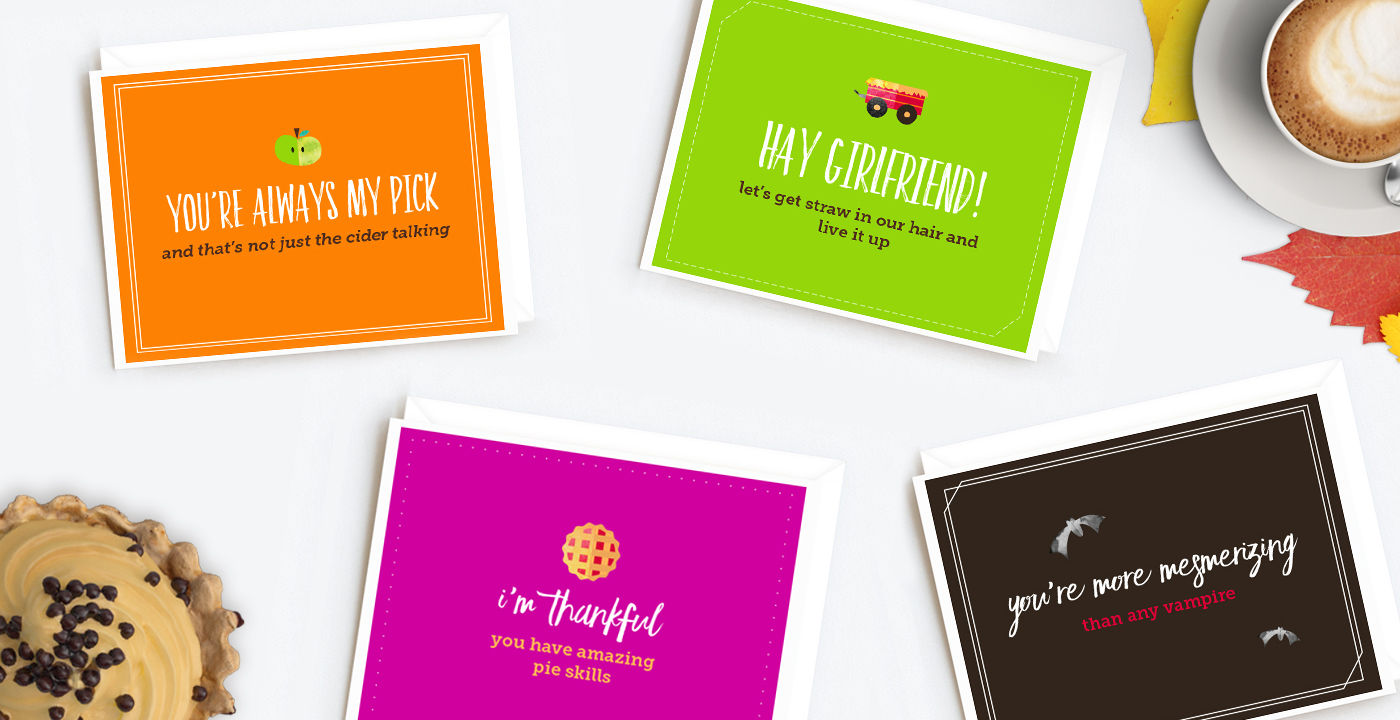 Printable Falliday Cards