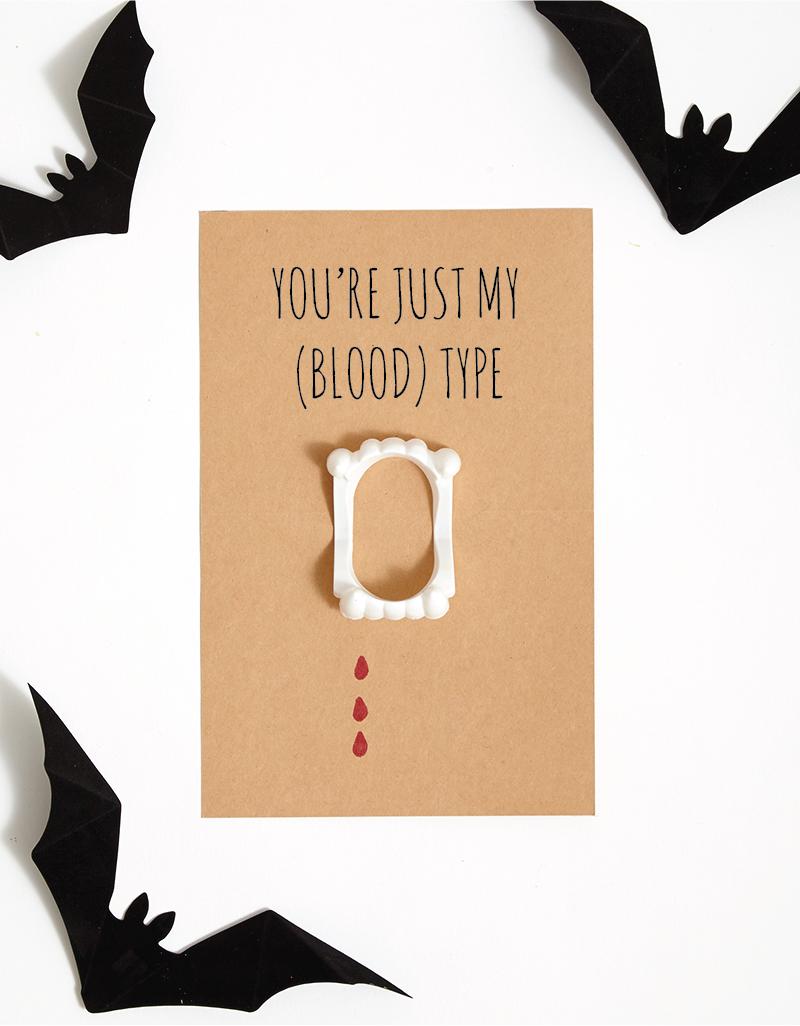 DIY Halloween funny Vampire Card