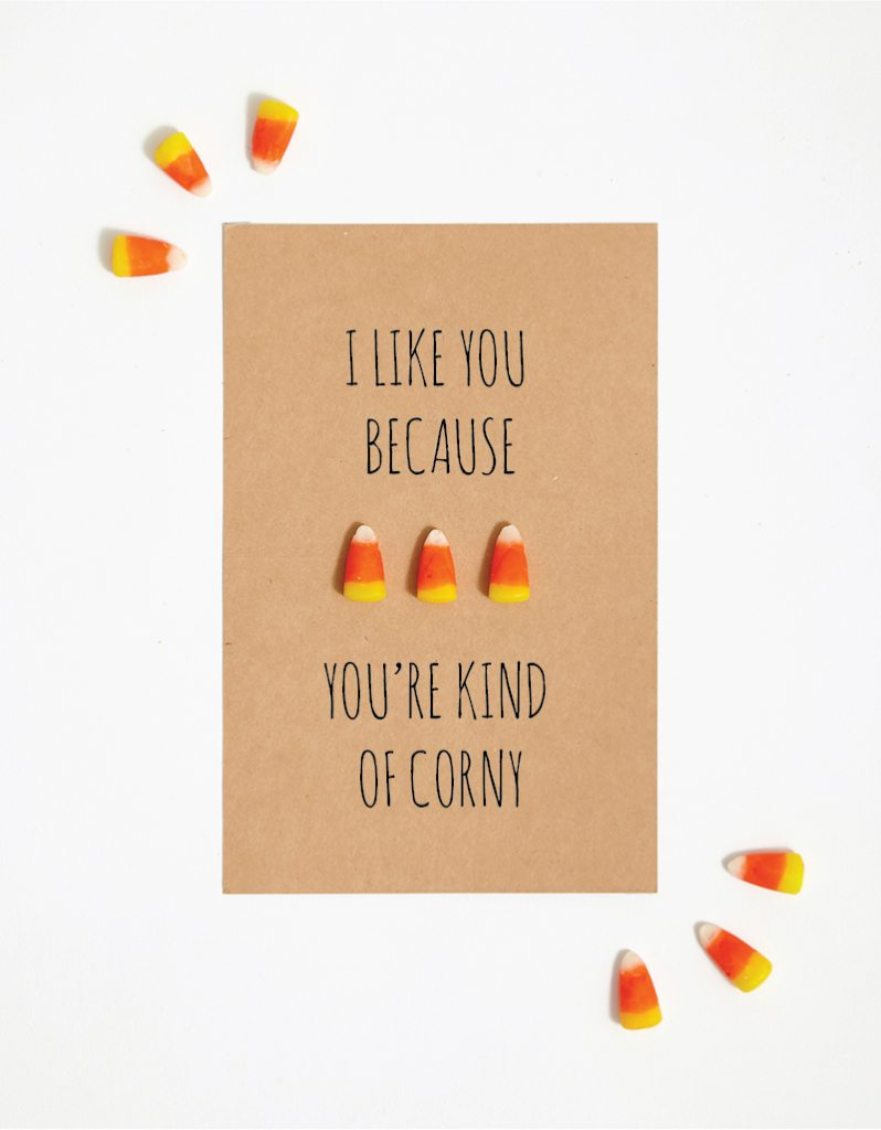 DIY: Hilarious candy corn Halloween Card