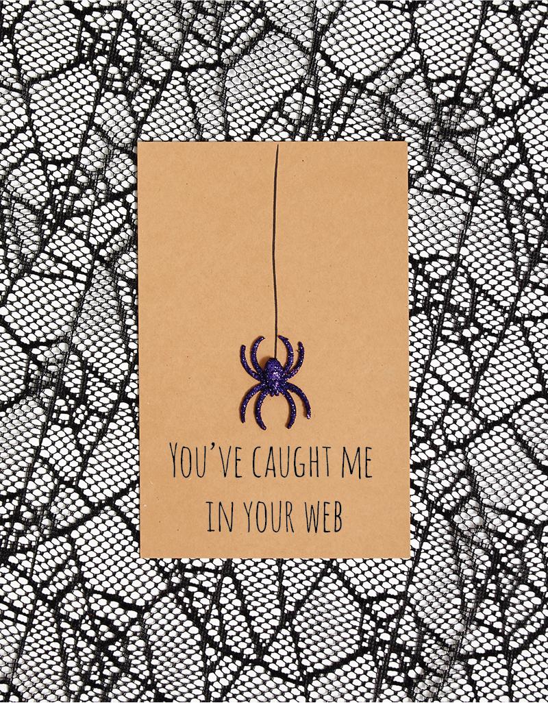 DIY Halloween funny Spider Card