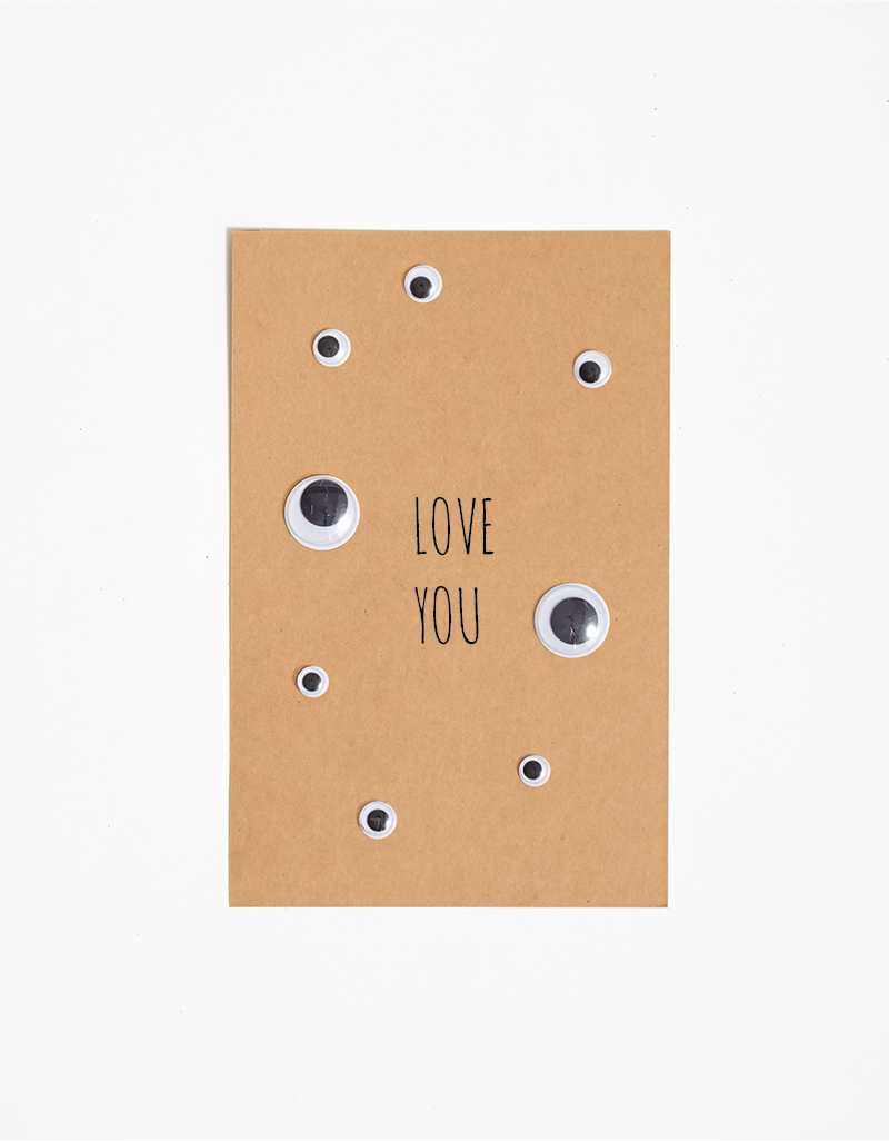 DIY funny Halloween Cards Love you