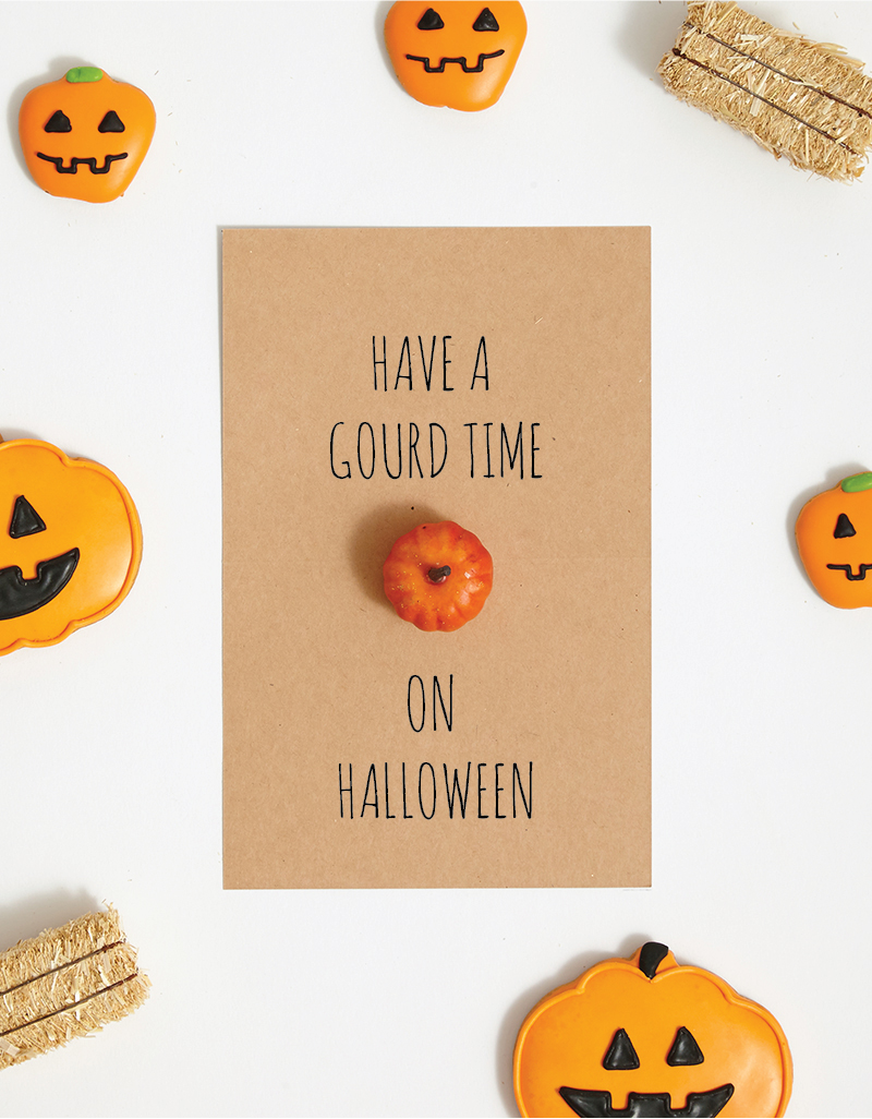 DIY: Hilarious Pumpkin Halloween Card