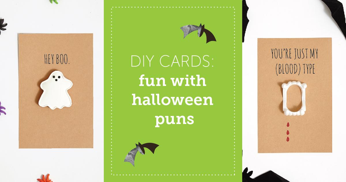 DIY Cards: Fun With Halloween Puns - Shari's Berries Blog
