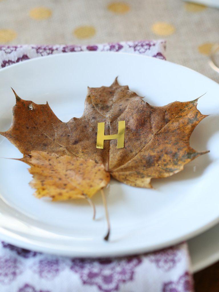 leaf thanksgiving table diy
