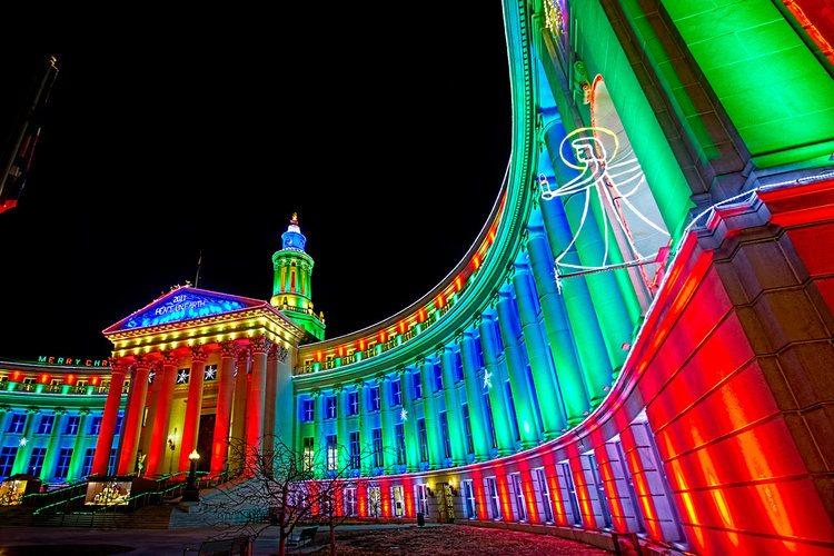 Denver County Building Christmas Lights