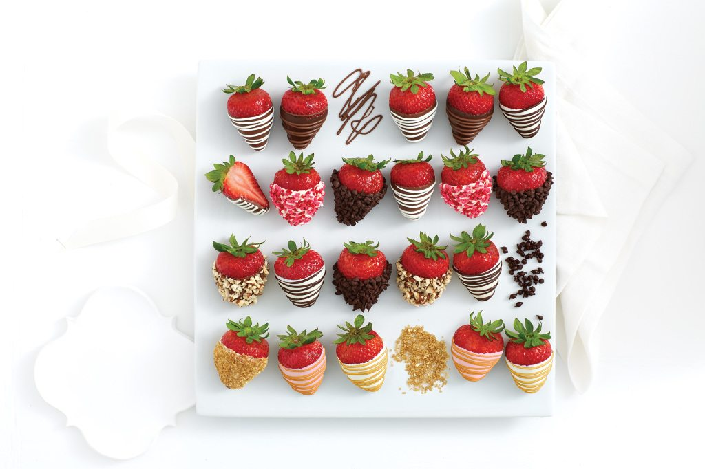 dipped strawberries sharis berries chocolate chips champagne
