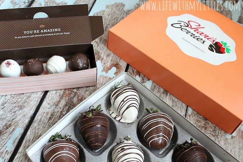 dipped chocolate strawberries and truffles