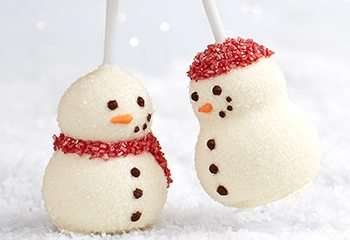 snowman brownie pops secret smoochers