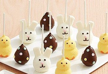 Easter Brownie Pops